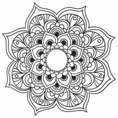 Imagens de Mandalas para você baixar, imprimir e colorir! Mais