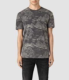 Mens Canada Crew T-Shirt (Vintage Black) - product_image_alt_text_1
