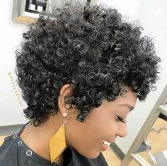 8 Short Natural Haircuts Everyone Is Asking For Woman with short curly hair Curly Hair Cuts, Short Hair Cuts, Curly Hair Styles, Natural Hair Styles, Curly Short, Curly Bob, Short Natural Curly Hair, Short Curls, Ponytail Styles