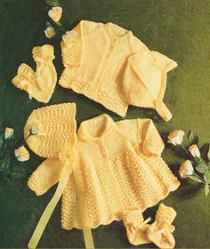 Bonnet Helmet Mitts Bootees. Knitting Pattern Copy. Baby Set. DK Wool. You will receive a quality photocopy of the pattern. N.B This is not for the original pattern or the finished item. | eBay!