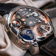 watch GREUBEL FORSEY GMT 5N platinum case & red gold @abtw_david by watchinsanity