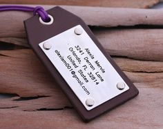 Custom Leather Luggage Tags  Handstamp Luggage Tags  Travel
