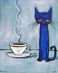 One Can Never Have Too Much Coffee ~Pete The Cat #coffee, #drinks, https://apps.facebook.com/yangutu, #bestofpinterest