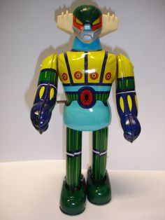 Used 70's Takara wind up tin toy jeeg walking robot figure