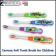 Buy Cartoon Soft Tooth brush for Children at just $29.99(72 pieces per box). These Children brushes with attractive cartoon on handle. To place your order visit : http://r2medical.com/collections/dental/products/cartoon-soft-toothbrushes-for-children