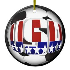 USA Soccer Ball  Ornaments  BY #GRAVITYX9 at #zazzle #Soccer ball