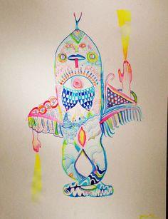 Ink and watercolor on paper. Kiki Kogelnik, Marisol Escobar, Rachel Whiteread, Kiki Smith, Digital Ink, Art Drawings, Watercolors, Art Art, Spirit