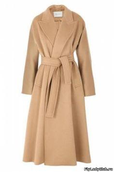 Классическое черное кашемировое пальто