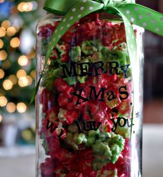 Christmas Candied Popcorn