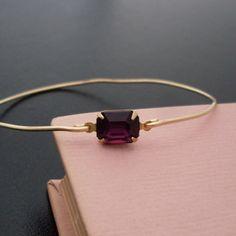 Armreif Nadalia - Gold, Rot Granat Armband von frostedwillow auf DaWanda.com