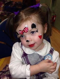 Minnie Mouse - Face Painting www.mymasquerade.co.uk