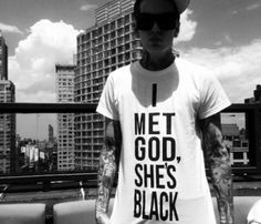 """I Met God T-Shirt Reminds me of the novel """"The Shack"""" by William P. Young. Awesome book!"""