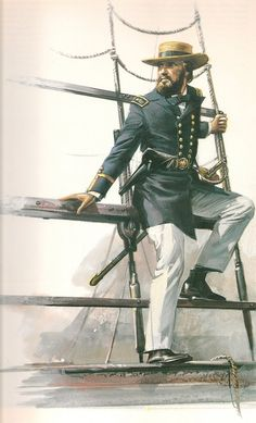 ACW Confederate : Confederate Naval Officer, by Michael Codd. Military Art, Military History, American Civil War, American History, Civil War Art, Confederate States Of America, Civil War Photos, United States Army, Rms Titanic
