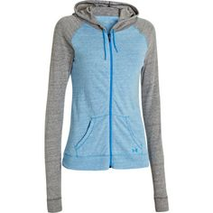 Under Armour Charged Cotton Undeniable Full Zip Womens Hoody picture 1 Under Armour Jackets, Sporty Style, Full Zip Hoodie, Outdoor Gear, Hooded Jacket, Sportswear, Hoodies, My Style, Sleeves