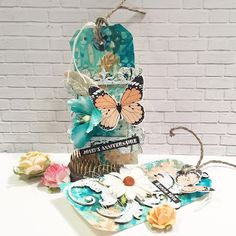 France Ringuette proCRAFTination blog: Butterfly Tags for Creative Embellishments