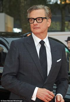 Suave: Looking dapper, Colin donned a black checked fitted suit, teamed with a white shirt and matching printed tie Hot Actors, Actors & Actresses, Colin The Caterpillar, Dream Cast, The Selection, James Bond Style, Jenna Dewan, Colin Firth, Shabby Chic