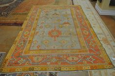 FR5177 Antique Turkish Oushak. Color. Home Décor. Rugs. Turkish Oushaks. Antique Rugs. Farzin Rugs. Dallas, Tx