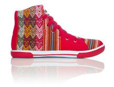aztec converse type trainers