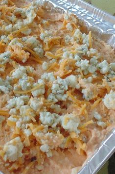 """Easy Buffalo Chicken Dip   """"Loved this recipe and so did everyone else! Simple and easy."""" #footballrecipes #gamedayrecipes #tailgatingrecipes #superbowlrecipes #superbowlparty #superbowlpartyideas"""