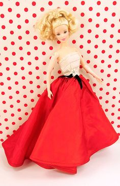 Barbie Gorgeous Red Trained Gown