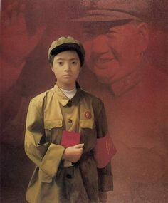 Han Wu Shen - The Sun is Red (oil on canvas)