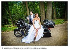 biker wedding pictures   Harley Davidson Motorcycle Wedding Photography Michigan 01