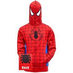 Buy Spider-Man - Hidden Parker Costume Zip Hoodie at Wish - Shopping Made Fun Hoodie Jacket, Zip Hoodie, Spiderman Hoodie, Fashion Brands, Topshop, The Incredibles, Costumes, Superhero, Hoodies