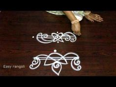 simple and easy rangoli border designs || muggulu border designs || side designs for kolam - YouTube