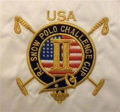 Ralph Lauren Polo White USA II Puffer Down Snow Polo Challenge Cup Vest Men's 2XL