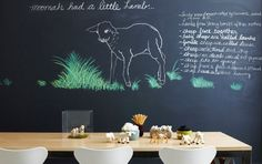 How badly do I want a huge chalk board wall in my house?  So. Bad.