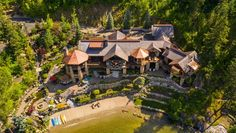 Inside a Stunning $27 Million Idaho Ranch – Robb Report Knotty Alder Doors, Waterfall Features, Lodge Style, Coeur D'alene, Expensive Houses, Lake View, Idaho, Great Rooms, Luxury Homes