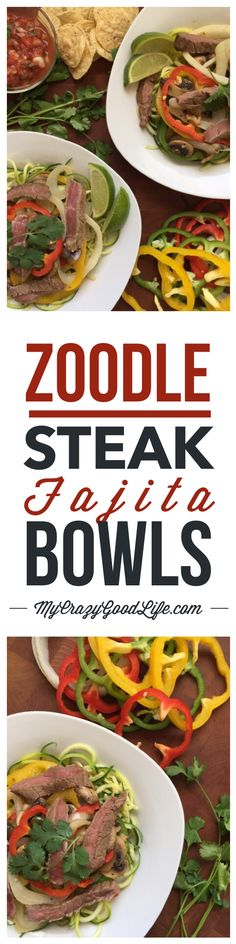 Zoodle recipes are so popular right now for good reason–zoodles are delicious and healthy! You can add zucchini noodles to almost any meal and their hearty texture is satisfying and filling. I hope you love these Steak Fajita Zoodles as much as we do. 21