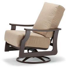 Telescope Casual St. Catherine Swivel Rocking Chair with Cushions Finish: Kona, Fabric: Plush Earth