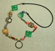 Used circuit boards transformed into creative, functional designs