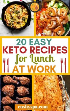 Here are 20 easy keto lunch ideas for work. Sharing ketogenic lunch recipes that are great for meal prepping and work lunches. Here are 20 easy keto lunch ideas for work. Sharing ketogenic lunch recipes that are great for meal prepping and work lunches. Diet Plan Menu, Keto Meal Plan, Meal Prep, Food Plan, Ketogenic Recipes, Diet Recipes, Cooking Recipes, Salmon Recipes, Dessert Recipes
