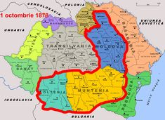 Harta Romaniei - Romania fara sudul Basarabiei Bulgaria, Romania Map, Moldova, Mephisto, Persona 5, History Facts, Magic The Gathering, Tokyo Ghoul, Goblin