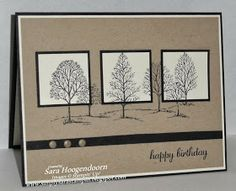 card by Sara Hoogendoorn.... CAS - Lovely as a Tree... (change sentiment)