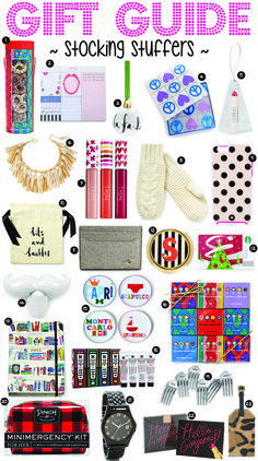 GIFT GUIDE // STOCKING STUFFERS http://goldcoastgirlblog.com
