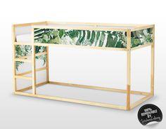 Kura lit Ikea, Tropical laisse Bed Sticker Set, PACK de 5, meubles autocollant, autocollant exotique pour lit d'enfant, Stickers enfants #1K par StickersColoray sur Etsy https://www.etsy.com/ca-fr/listing/516654509/kura-lit-ikea-tropical-laisse-bed