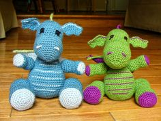 Dragon - Free Amigurumi Pattern here: http://sanitybystitches.blogspot.de/2014/06/dragons-pattern.html