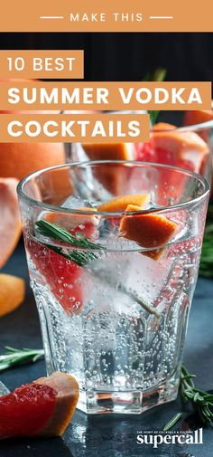 Here are the 10 best summer vodka cocktails to enjoy this season. Some are strong while others are light, but all are ready for the warmest months of the year. #cocktails #summer #cocktailrecipes #vodka
