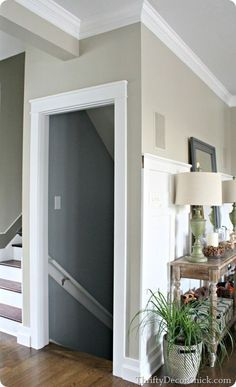 Learn how to add a thick craftsman door trim to your doorways! | DIY