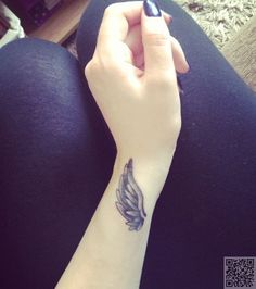 13. #Angel Wings - 32 #Inspiring Wrist Tattoos ... → #Lifestyle #Tattoos
