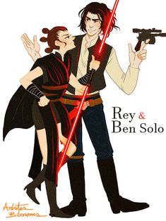 """arbutus-blossoms: """" """" Sorry Sweetheart """" ( ˘ ³˘)♥ """"So this is a Valentine Art Trade with flybynite19 who suggested Sith!Rey and Ben Solo ♥ """" """""""