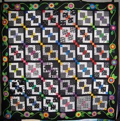disappearing nine patch variations | Ros-the-quilter: Disappearing 9 Patch Quilt with Applique