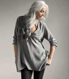 Long Grey Hair - Google Search