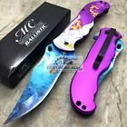 """nice MC Collection Silver Purple Mermaid Tactical Rescue Pocket 5"""" Knife MC-A013PE   Check more at http://harmonisproduction.com/mc-collection-silver-purple-mermaid-tactical-rescue-pocket-5-knife-mc-a013pe/"""