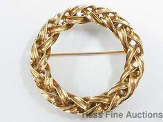 Genuine Tiffany Co Vintage 14K Gold Entwined Eternal Circle Braided Brooch Pin #TiffanyCo