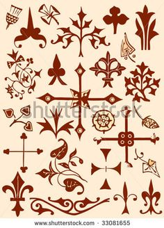 Google Image Result for http://image.shutterstock.com/display_pic_with_logo/1679/1679,1246651753,1/stock-vector-ancient-and-medieval-ornamental-design-elements-set-33081655.jpg