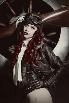 Steampunk / Dieselpunk Fashion , Steam Punk . Do you know the Artist ?